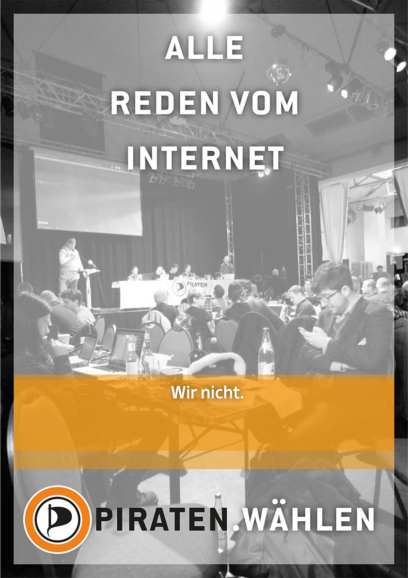 Plakat: Alle reden vom Internet -- Wir nicht