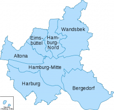 Bezirke in Hamburg